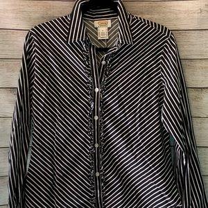 Trendy petite striped shirt